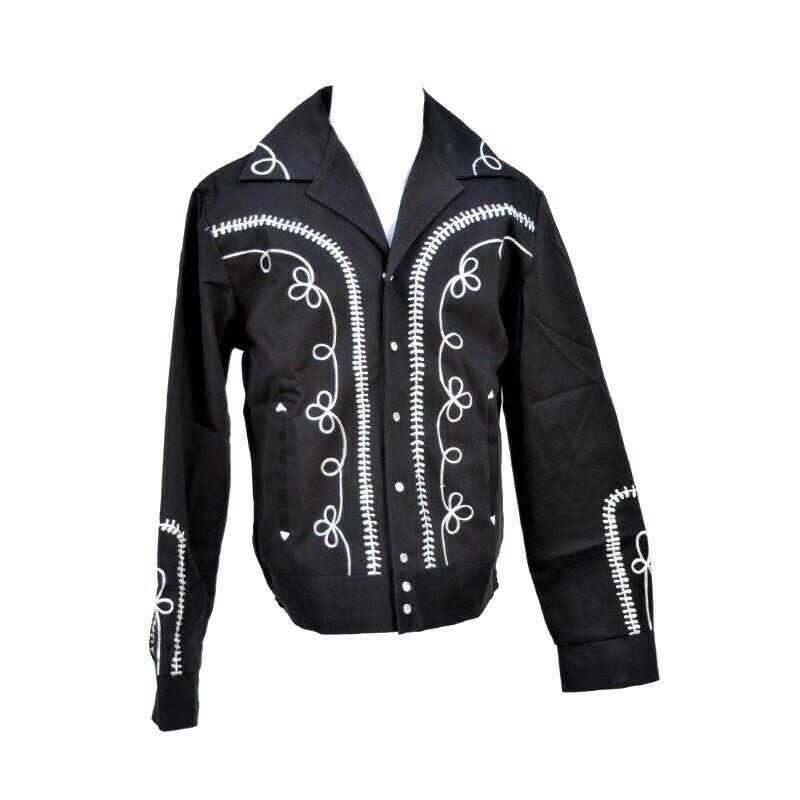 Vintage 1950s Gabardine Jacket Lady Black