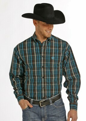 Ranch Plaid Turquoise/Brown