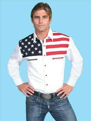 American Flag Long Sleeve Gents