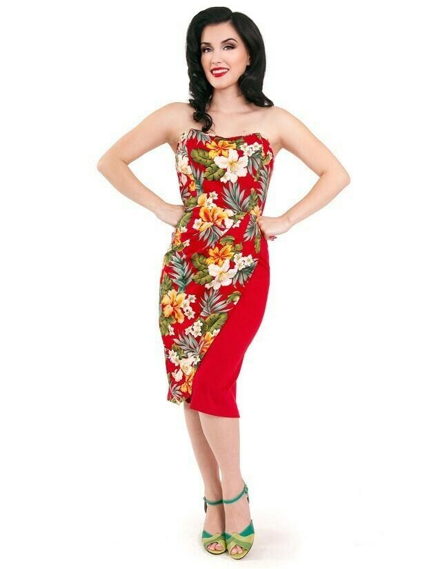 Ella Tiki Dress Red