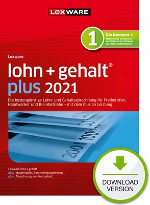 Lexware lohn + gehalt plus 2021 (Abo-Version) Downloadversion
