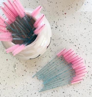 Mascara Wand (50) Turquoise & Pink Glitter