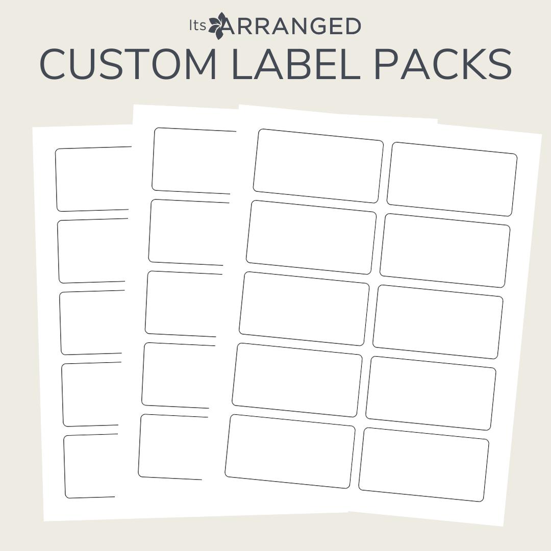 Custom Label Packs