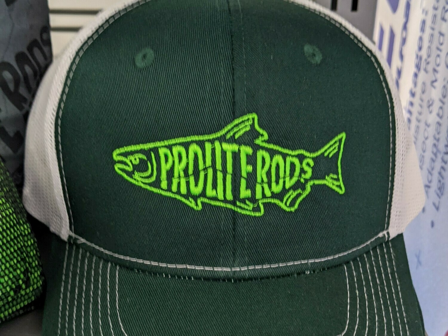 Dark Green Snapback w/ Prolite Salmon Design
