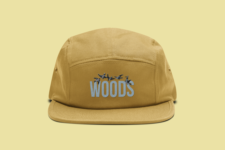 WOODS 5 Panel Hat | Yellow