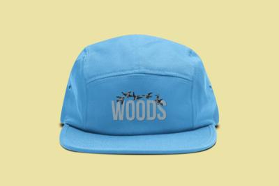 WOODS 5 Panel Hat | Blue
