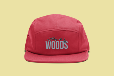 WOODS 5 Panel Hat | Red
