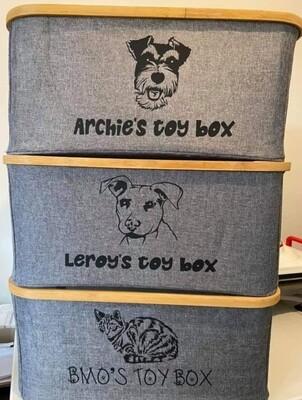Pet toy boxes