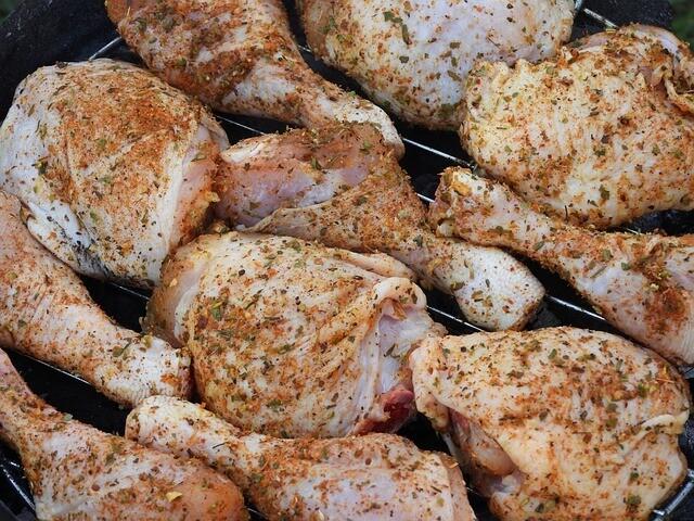 Курица части тушки в маринаде