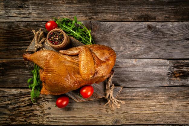 Цыпленок горячего копчения
