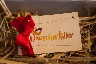 Wunscherfüller Gutschein aus Holz