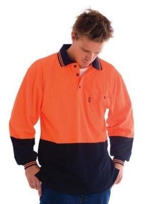 HiVis Cool-Breeze Cotton Jersey Polo Shirt L/S