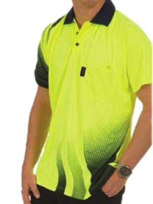 Wave HiVis Sublimated Polo Shirt