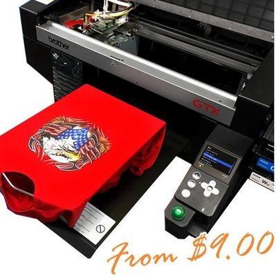 Medium Direct to Garment DTG Print