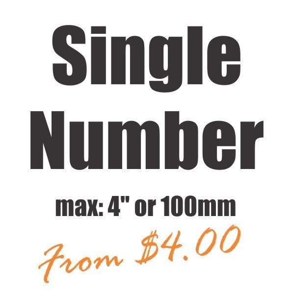 Small Single Number Vinyl Heat Transfer