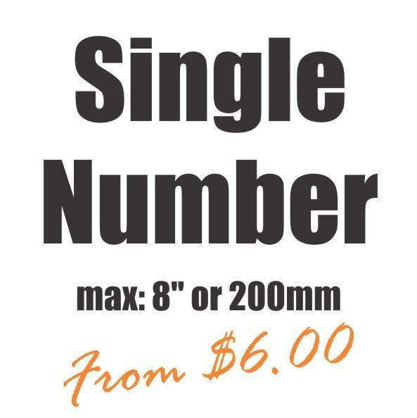 Large Single Number Vinyl Heat Transfer