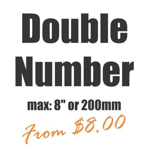 Large Double Number Vinyl Heat Transfer
