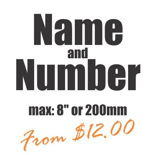 Number & Name Vinyl Heat Transfer
