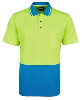 Hi Vis Non Cuff  Traditional Kids Polo