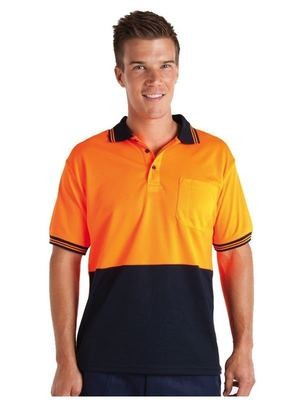 HiVis S/S Traditional Polo