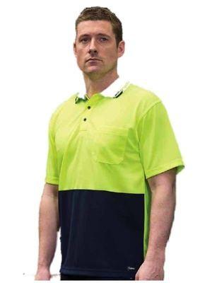 Hi Vis Non Cuff  Traditional Polo