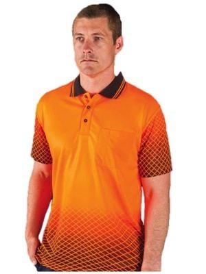 Hi Vis Net Sub Polo Shirt