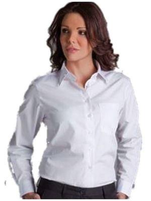 Ladies L/S Poplin Shirt