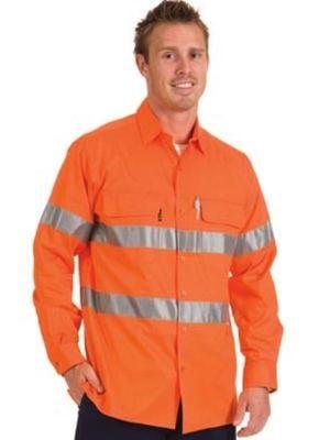 HiVis 3 Way Cool Breeze Cotton Shirt Long Sleeve