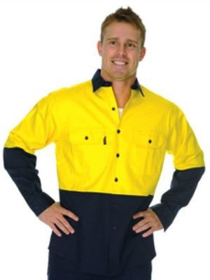HiVis Two Tone Cotton Drill Vented Shirt