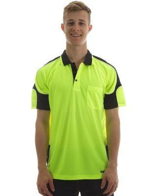 Hi Vis S/S Arm Panel Polo Shirt