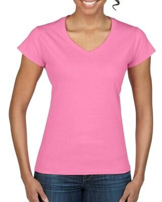 Gildan Ladies V Neck T Shirt