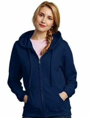 Heavy Blend Ladies Full Zip Hooded Sweatshirt