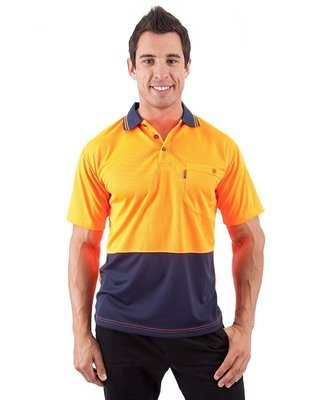 HiVis Two Tone Fluoro Polo Shirt, S/S