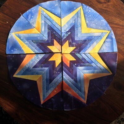 Downloadable Foundation Paper Piecing Pattern and Instructions for VENUS STAR AT DUSK BLOCK05 Dreamcatcher Dusk Round the Year Quilt