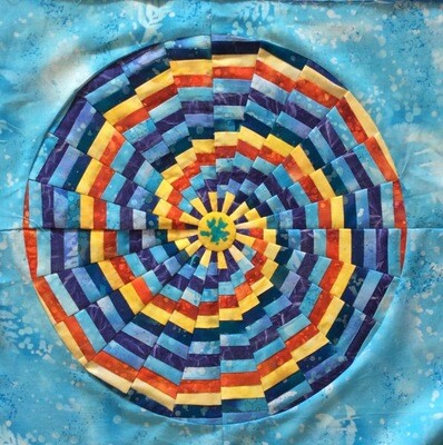Downloadable Foundation Paper Piecing Pattern and Easy Strip-piecing Instructions for LOLLIPOP CANDY BLOCK06 Dreamcatcher Round the Year Quilt