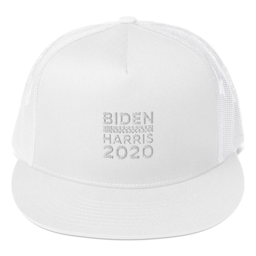 Biden-Harris 2020 Black Trucker Cap