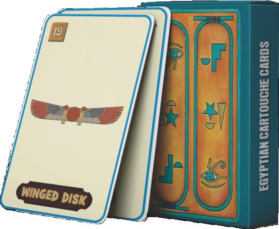 EGYPTIAN CARTOUCHE CARDS - Future Prediction Cards.
