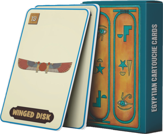 EGYPTIAN CARTOUCHE CARDS - Future Prediction Cards.