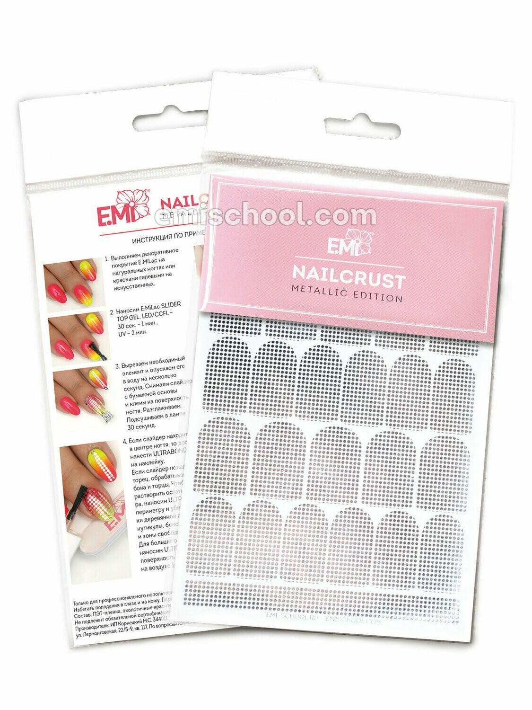 NAILCRUST Pattern Sliders #40 Silver