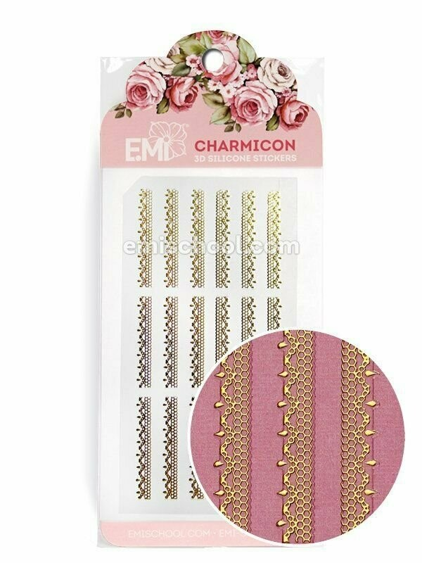 Charmicon 3D Silicone Stickers Ornament Gold #2