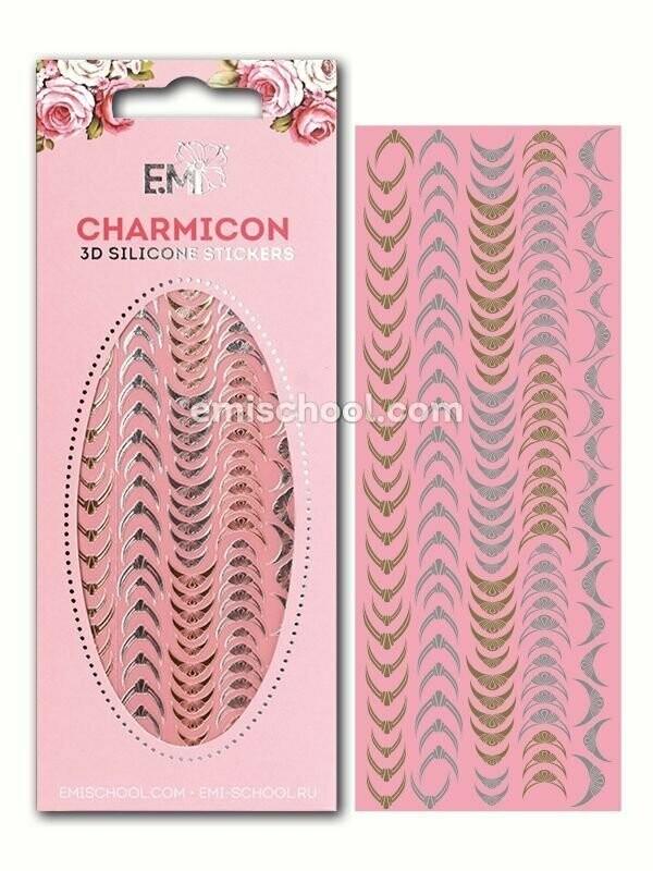 Charmicon 3D Silicone Stickers Lunula #9 Gold/Silver