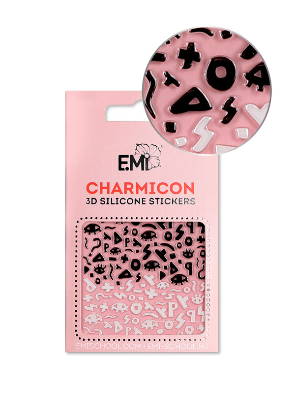 Charmicon 3D Silicone Stickers #119 Secret Symbols