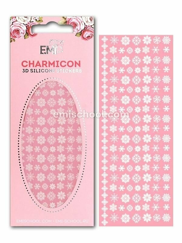 Charmicon 3D Silicone Snowflakes #2 White