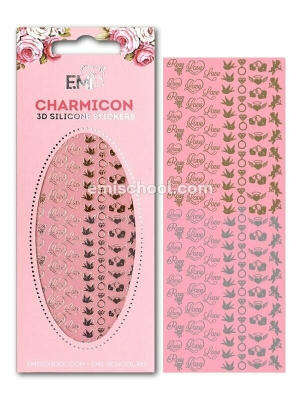 Charmicon 3D Silicone Stickers Love MIX Gold/Silver