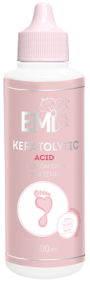 Acid-Based Keratolytic – Rough Skin Softener based on acids: citric, tartaric and lactic, 100 ml.