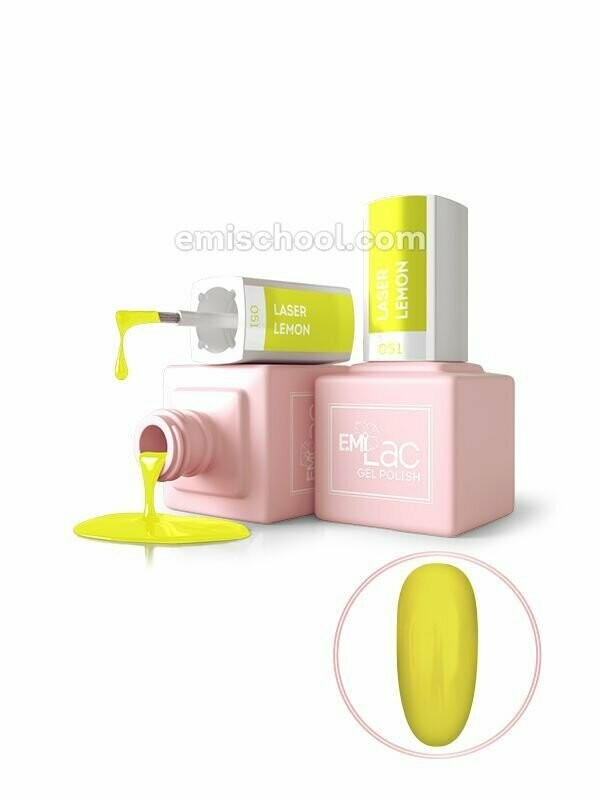 E.MiLac NEON Laser Lemon #051, 9 ml.