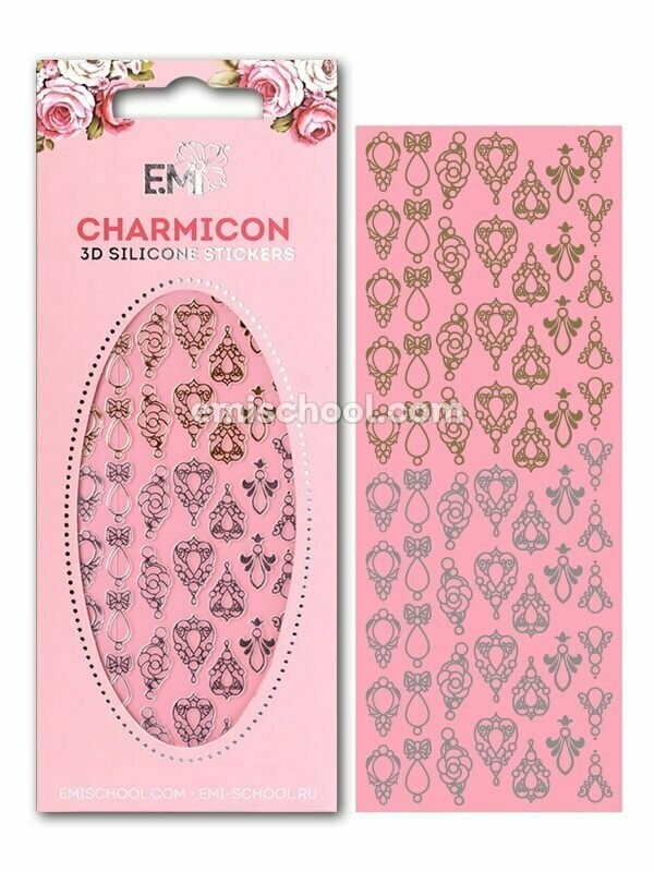 Charmicon 3D Silicone Stickers Jewelry Gold/Silver #1