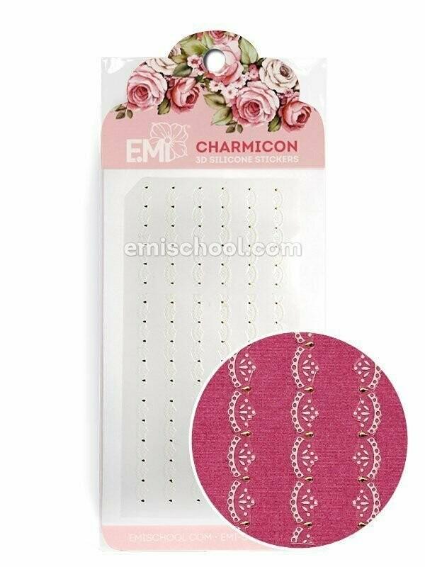 Charmicon 3D Silicone Stickers Ornament White #2