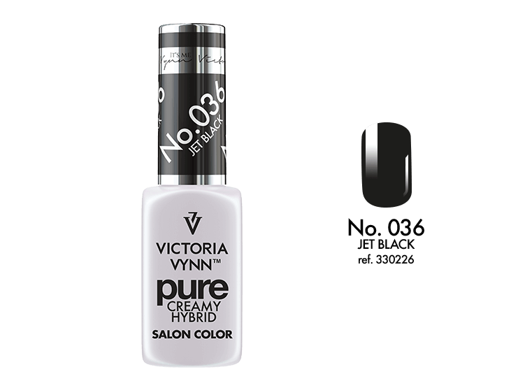 PURE CREAMY HYBRID 036 Jet Black 8ml