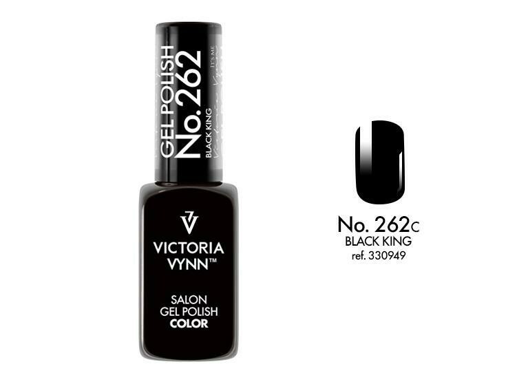 Gel Polish 262 Black King 8ml